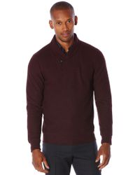 Perry Ellis - Shawl Collar Pullover Sweater - Lyst