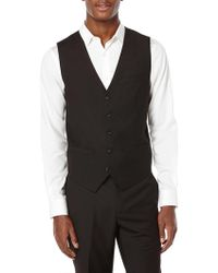 Perry Ellis - Big And Tall Solid Suit Vest - Lyst