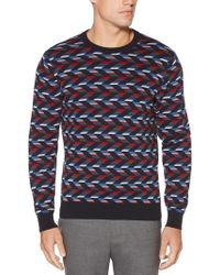 Perry Ellis - Vertical Chevron Sweater - Lyst