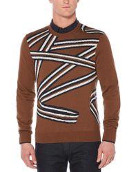 Perry Ellis - Ribbon Crew Sweater - Lyst