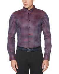 Perry Ellis - Herringbone Check Shirt - Lyst