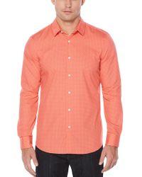 Perry Ellis - Slim Fit Circle Dot Print Shirt - Lyst