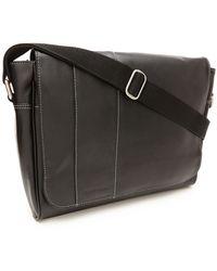 Perry Ellis | Leather Messenger Bag | Lyst