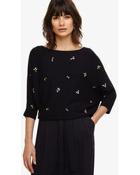 Phase Eight - Cristine Jewel Knitted Jumper - Lyst