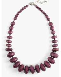 Phase Eight - Carris Wooden Bead Necklace - Lyst