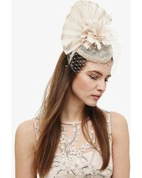Phase Eight - Carley Flower And Veil Fascinator - Lyst