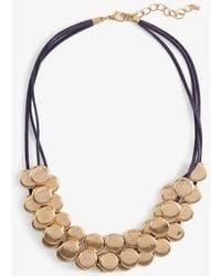 Phase Eight - Blair Multirow Cord And Disc Necklace - Lyst