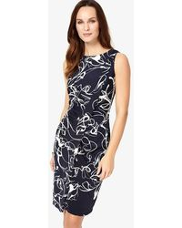 Phase Eight - Navy And Ivory Clara-mae Printed Dress - Lyst