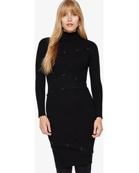 Phase Eight - Mara Button Detail Ribbed Knit Dress - Lyst