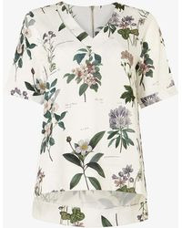 Phase Eight - Chrissy Botanical Print Blouse - Lyst