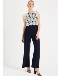 Phase Eight - Katy Lace Jumpsuit - Lyst
