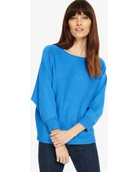 Phase Eight - Blue Becca Smart Batwing Knitted Jumper - Lyst
