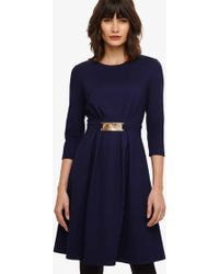Phase Eight - Parisa Ponte Swing Dress - Lyst