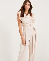 Phase Eight - Pink Victoriana Foil Print Jumpsuit - Lyst
