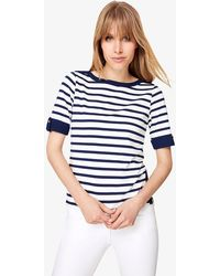 Phase Eight - Preppy Stripe Jersey Top - Lyst