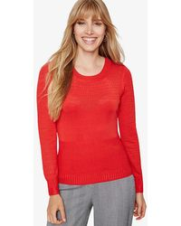 Phase Eight - Marina Multi Stitch Knitted Top - Lyst