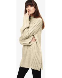 11834a36f Phase Eight - Winter White Fae Chunky Step Hem Knitted Jumper - Lyst