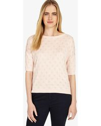 Phase Eight - Sedona Spot Jacquard Knitted Jumper - Lyst