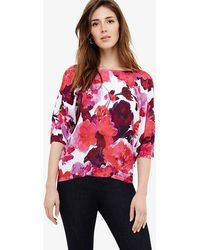 Phase Eight | Alice Cotton Floral Print Knitted Jumper | Lyst