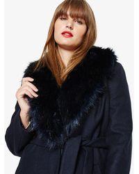 Phase Eight - Fergie Fur Collar Coat - Lyst