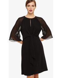 Phase Eight - Black Lucia Tie Front Dress - Lyst
