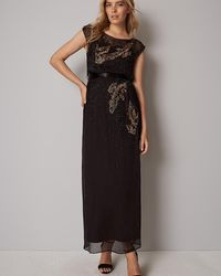 Phase Eight - Morina Beaded Bird Full Length Dress - Lyst