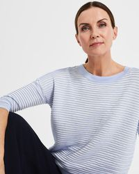 Phase Eight - Candie Contrast Ripple Stitch Knit - Lyst