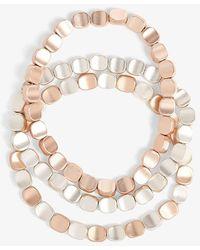 Phase Eight - Clara Stretch Bead Triple Pack Bracelets - Lyst