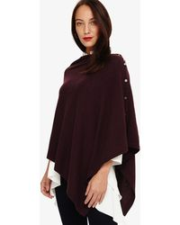 Phase Eight - Odette Cashmere Aysmmetric Poncho - Lyst