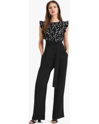 Phase Eight - Victoriana Foil Print Jumpsuit - Lyst