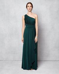Phase Eight | Saffron One Shoulder Full Length Dress | Lyst