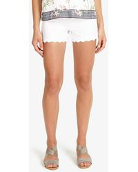 Phase Eight - Shelley Scallop Shorts - Lyst