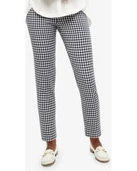 Phase Eight - Tyna Gingham Trousers - Lyst