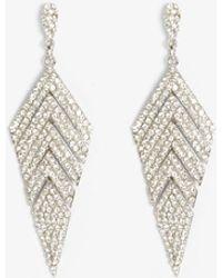 Phase Eight - Carmen Chevron Sparkle Drop Earring - Lyst