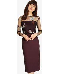 Phase Eight - Marly Embroidered Dress - Lyst