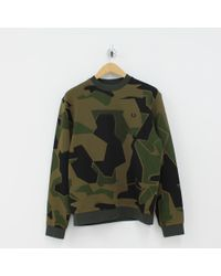 Fred Perry - Arktis Sweat Shirt Green - Lyst