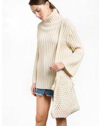 Pixie Market - Knit Fisherman Net Shoulder Bag - Lyst