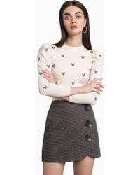 Pixie Market - Frenchie Puffy Sleeve Sweater - Lyst