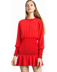 Pixie Market - Beatrice Red Smocked Dress - Lyst