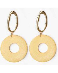Pixie Market - Yellow Contrasting Earrings - Lyst