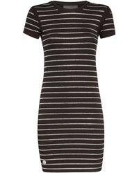 "Philipp Plein - Short Dress ""crystal Stripes"" - Lyst"