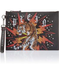 "Philipp Plein - Clutch ""want"" - Lyst"