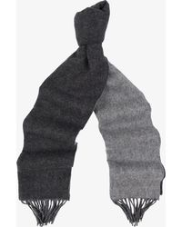 Mulberry - Jacquard Check Logo Scarf Grey - Lyst
