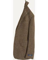 Ralph Lauren | Unconstructed Tweed Blazer Brown/olive | Lyst