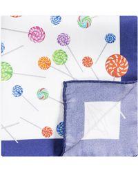 Eton of Sweden - 'lollipop' Pocket Square White - Lyst