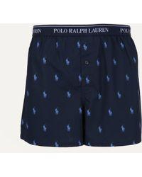 Ralph Lauren - Classic Logo Boxer Short Navy - Lyst