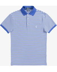 Ralph Lauren - Slim Fit Stretch Mesh 3-button Thin Stripe Polo Liberty/white - Lyst