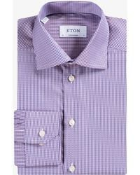 Eton of Sweden - Contemporary Fit Twill Shirt Salmon/navy - Lyst