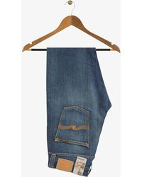 Nudie Jeans - Organic Steady Eddie Mid Wash Jeans Whistle Blue - Lyst