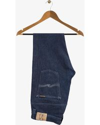 Nudie Jeans - Thin Finn Jeans Dry Dark Gray Stitching - Lyst